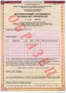 ветеринарный сертификат ЕС