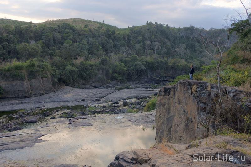 Вид сверху водопада Понгур.